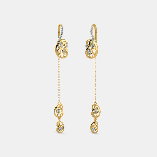 Sui Dhaga Gold Earrings For Women Dhanalakshmi Jewellers