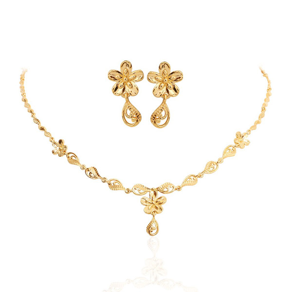 Gold Necklace Set Designs With Weight