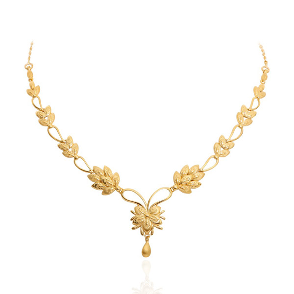 Light Weight Gold Necklace Sets for Women Dhanalakshmi Jewellers
