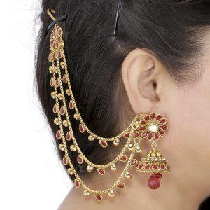 Pearl Jewellery Necklace >> Ear Chain Jewellery – Dhanalakshmi Jewellers
