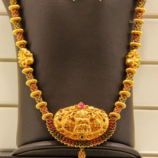 Antique Temple Jewellery Long Chains | Dhanalakshmi Jewellers