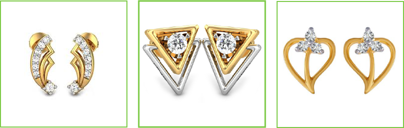 Gold Earrings Designs for Daily Use