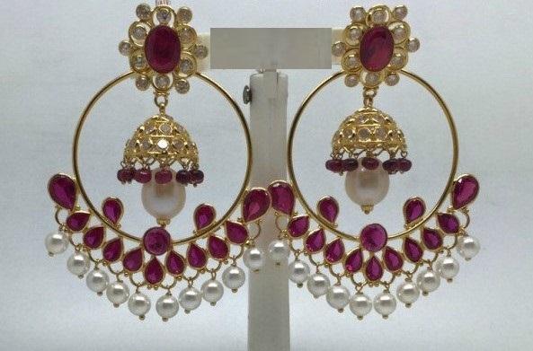 Gold Chandbali Earrings