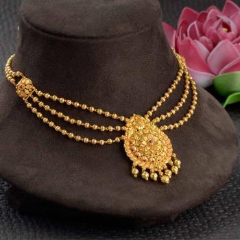 Designs 40 necklace grams gold 22 Guttapusalu
