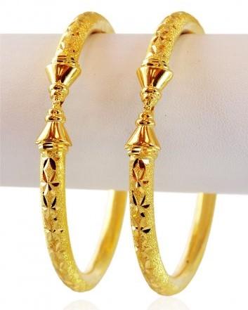 Hollow Gold Bangles