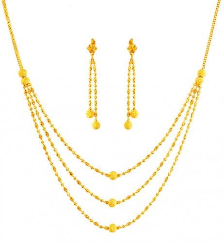 Light Weight Gold Necklace Set