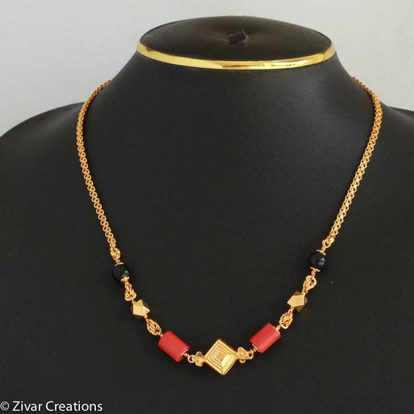 Coral Mangalsutra