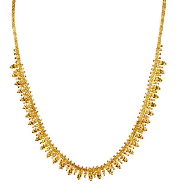 Gold Long Necklace Designs in 30 grams