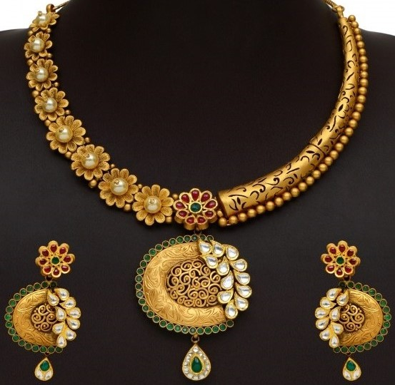 Gold Necklace Set New Designs Dhanalakshmi Jewellers