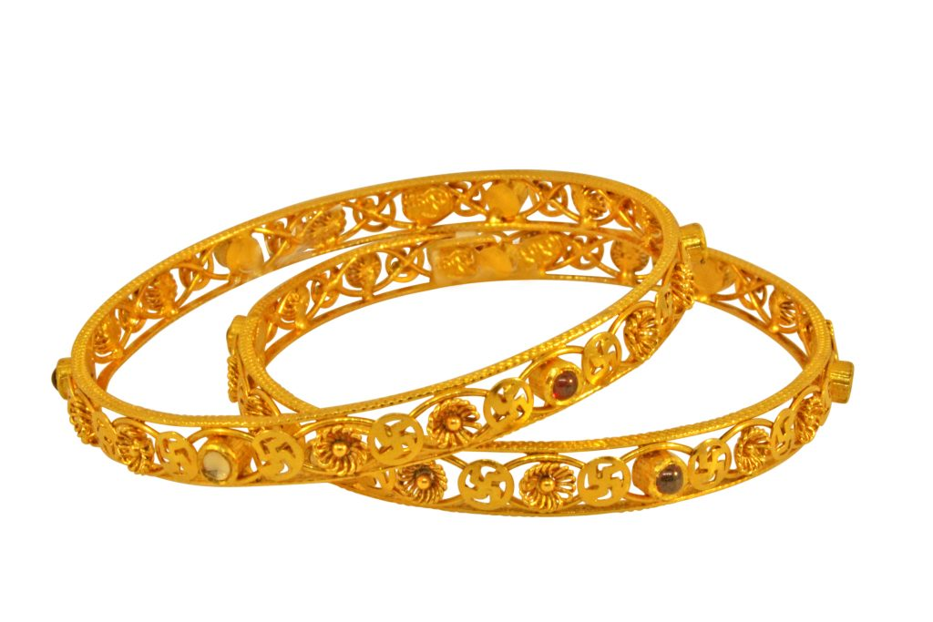 2 Gold Bangles designs in 40 grams | Dhanalakshmi Jewellers