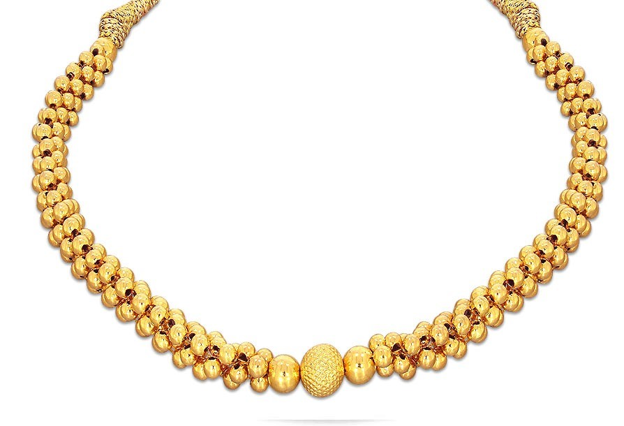 22k Gold Thushi Necklace