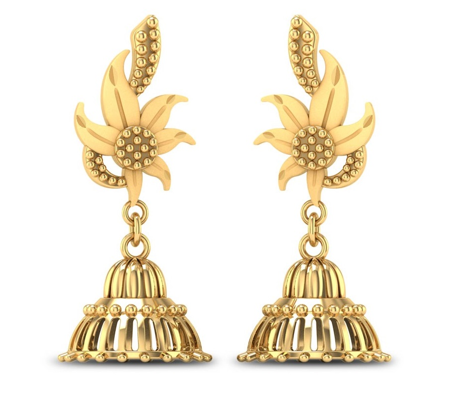 Gold Jhumkas