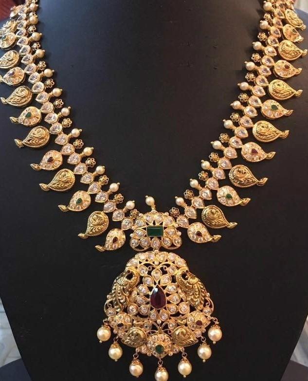 Chettinad Jewelry   Dhanalakshmi Jewelers   Mango mala