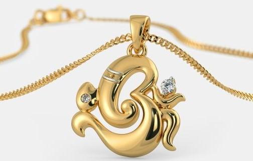 Om Gold Pendant