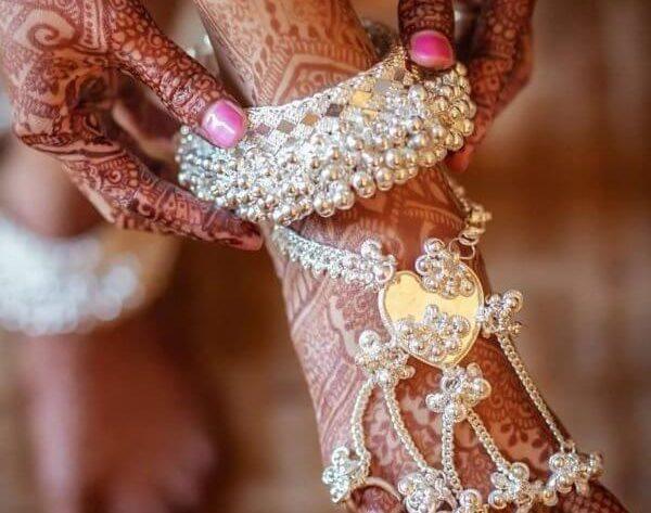 Bridal Silver Anklets