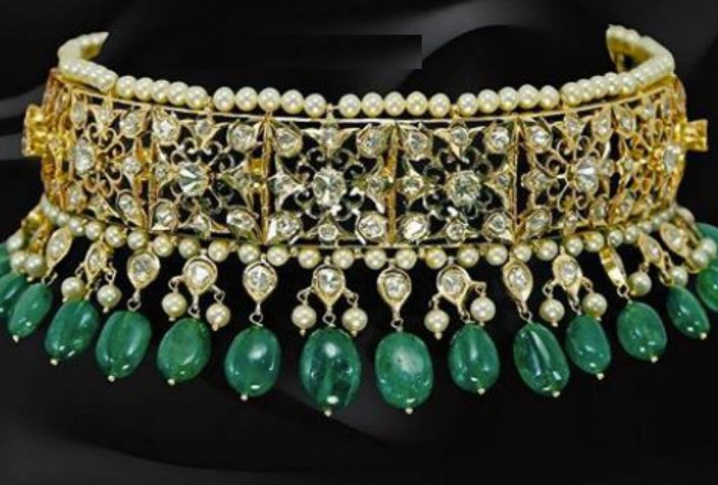 Emerald Polki Choker