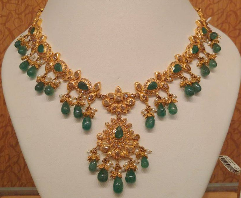 Kundan Necklace Dhanalakshmi Jewellers