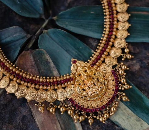Chettinad Jewelry   Dhanalakshmi Jewelers   Coin Necklace