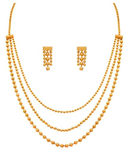 Gold Plated Gundla Mala Necklace