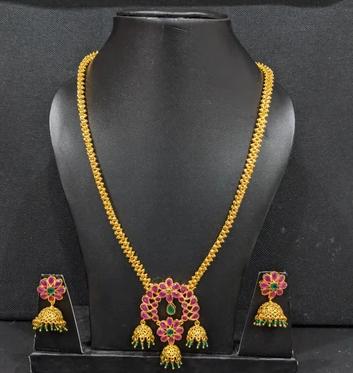 jhumka necklace set